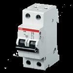 Изображение ABB S202 C50 Автоматический выключатель 2P 50А (С) 6kA