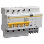 Изображение IEK Дифференциальный автоматический выключатель АД14 4Р 16А 30мА