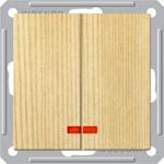 Изображение VS516-251-7-86 Выкл. 2 сп с инд. сосна Wessen59