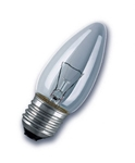 Изображение Лампа Philips Е27 60W свеча прозрачная