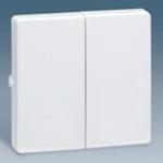 Изображение 73026-60 Комплект 2-х клавишного выкл. белый