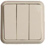 Изображение Выкл. 3 сп крем в сборе с клавишами Elso Fsh