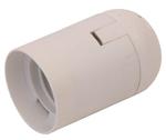 Изображение Е27 Патрон подвесной пластик белый гладкий