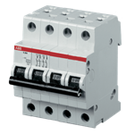 Изображение ABB S204 C50 Автоматический выключатель 4P 50А (С) 6kA