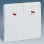 Изображение 82025-30 Клавиша двойная с инд белая