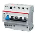 Изображение ABB DS204 C10 Диффавтомат 4P 10А 30mA 6kA (C) тип AC