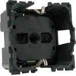 Изображение 67153 Механизм розетки с/з с защитными шторками, безвинтовой зажим 2 мод