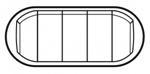 Изображение 68011 ЛП к 5-клавишному выключателю белая 5 мод Celiane