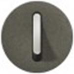 Изображение 64916 Клавиша 1-ая графит с подсветкой для бесшумного переключателя Celiane