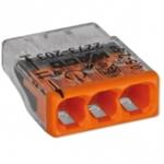 Изображение WAGO Клемма монтажная на 3 проводника сечением до 2,5 мм кв. ( только медь) (2273-243)