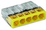 Изображение WAGO Клемма монтажная на 5 проводников сечением до 2,5 мм кв. ( только медь) (2273-245)