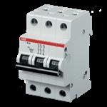 Изображение ABB S203 C10 Автоматический выключатель 3P 10A (C) 6kA