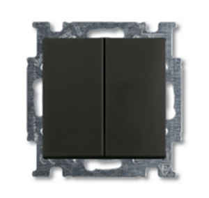 Изображение ABB BJB Basic 55 Шато (чёрн) Выключатель 2-х клавишный