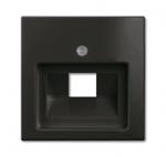 Изображение ABB BJB Basic 55 Шато (чёрн) Накладка 1-ой ТЛФ/комп розетки наклонной