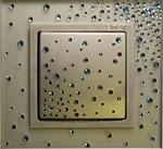 Изображение Выключатель 1кл серебро-алюминий стекло в кристаллах Swarowski