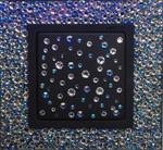 Изображение Выключатель 1кл серый-графит стекло в кристаллах Swarowski