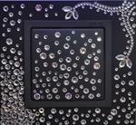Изображение Выключатель 1кл свинец-графит в кристаллах Swarowski