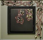Изображение Выключатель 1кл серый-графит в кристаллах Swarowski