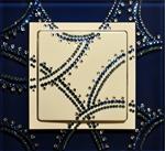 Изображение Выключатель 1кл синее стекло в кристаллах Swarowski
