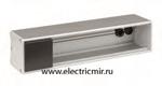 Изображение KFC136-14 Офиблок LINE под 6 модулей К45 с 4-мя выводами для кабеля графит Simon