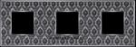 Изображение FD01323DNCB Рамка на 3 поста DECORNOIR Bright Chrome TAPESTRY