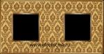 Изображение FD01322DGOB Рамка на 2 поста DECORGOLD Bright Gold TAPESTRY