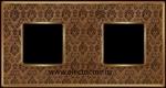 Изображение FD01322DBOB Рамка на 2 поста DECORBRASS Bright Gold TAPESTRY