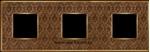Изображение FD01323DBOB Рамка на 3 поста DECORBRASS Bright Gold TAPESTRY