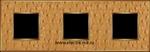 Изображение FD01323GOB Рамка на 3 поста ALIENAGOLD Bright Gold TAPESTRY