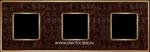 Изображение FD01323AOB Рамка на 3 поста ALICOCOBROWN Bright Gold TAPESTRY