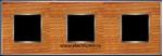 Изображение FD01313CCB Рамка на 3 поста CHERRY Bright Chrome WOOD