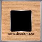 Изображение FD01311OCB Рамка на 1 пост OAK Bright Chrome WOOD