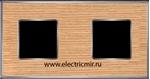 Изображение FD01312OCB Рамка на 2 поста OAK Bright Chrome WOOD