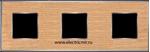 Изображение FD01313OCB Рамка на 3 поста OAK Bright Chrome WOOD
