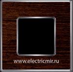 Изображение FD01311WCB Рамка на 1 пост WENGE Bright Chrome WOOD