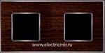 Изображение FD01312WCB Рамка на 2 поста WENGE Bright Chrome WOOD