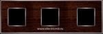 Изображение FD01313WCB Рамка на 3 поста WENGE Bright Chrome WOOD