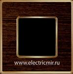 Изображение FD01311WOB Рамка на 1 пост WENGE Bright Gold WOOD
