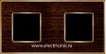 Изображение FD01312WOB Рамка на 2 поста WENGE Bright Gold WOOD