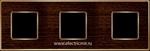 Изображение FD01313WOB Рамка на 3 поста WENGE Bright Gold WOOD