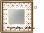 Изображение FD01341MAOB Рамка на 1 пост BROWN LYS Bright Gold PORCELAIN