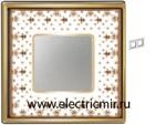Изображение FD01342MAOB Рамка на 2 поста BROWN LYS Bright Gold PORCELAIN