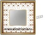 Изображение FD01343MAOB Рамка на 3 поста BROWN LYS Bright Gold PORCELAIN