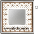 Изображение FD01341MACB Рамка на 1 пост BROWN LYS Bright Chrome PORCELAIN