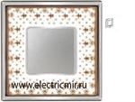 Изображение FD01341MACB Рамка на 1 пост BROWN LYS Bright Chrome PORCELAIN
