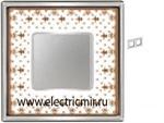 Изображение FD01342MACB Рамка на 2 поста BROWN LYS Bright Chrome PORCELAIN