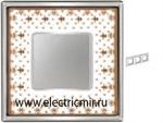 Изображение FD01343MACB Рамка на 3 поста BROWN LYS Bright Chrome PORCELAIN