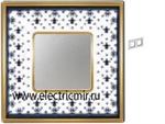 Изображение FD01342NEOB Рамка на 2 поста BLACK LYS Bright Gold PORCELAIN
