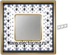 Изображение FD01343NEOB Рамка на 3 поста BLACK LYS Bright Gold PORCELAIN
