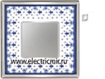 Изображение FD01341AZCB Рамка на 1 пост BLUE LYS Bright Chrome PORCELAIN